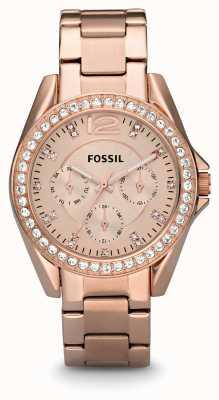 Fossil 女性のリーレイは、金pvdメッキ ES2811