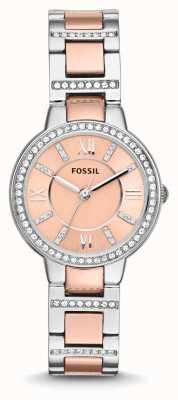 Fossil レディースバージニア2トーンピンクダイヤル ES3405