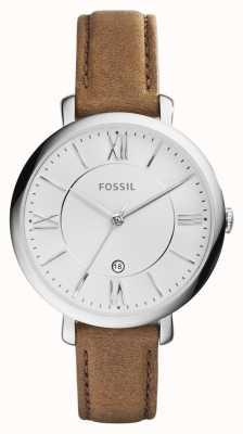 Fossil レディースジャケッラブラウンレザーストラップ ES3708