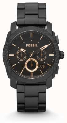 Fossil メンズマシンブラックpvdメッキ FS4682