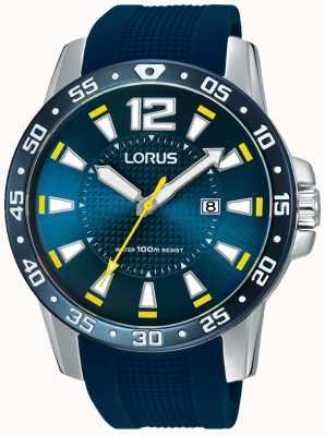 Lorus メンズブルーラバーストラップブルーダイヤル RH935FX9