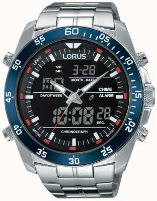 Lorus メンズデュアルタイムステンレス RW623AX9