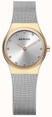 Bering レディースステンレスメッシュストーンセット 12924-001