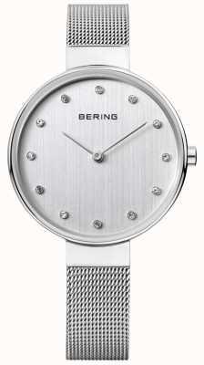 Bering レディースステンレスメッシュシルバーダイヤル 12034-000