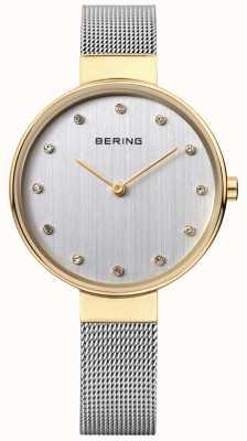 Bering レディースステンレスメッシュシルバーダイヤル 12034-010