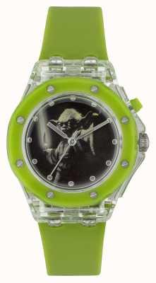 Star Wars 子供のヨーダ、緑色の腕時計を照らす YOD3702