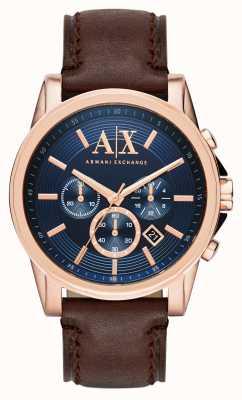 Armani Exchange メンズブルーダークブラウンクロノグラフ AX2508