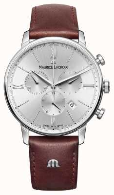 Maurice Lacroix エリオスデイトンレザーストラップクロノグラフ EL1098-SS001-110-1