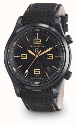 Elliot Brown メンズキャンフォードブラックレザーブラックダイヤル 202-008-L11