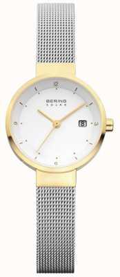Bering レディースステンレスメッシュホワイトダイヤル 14426-010