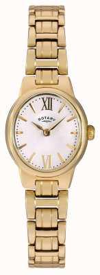 Rotary レディースゴールドpvdメッキホワイトダイヤル LB02748/01