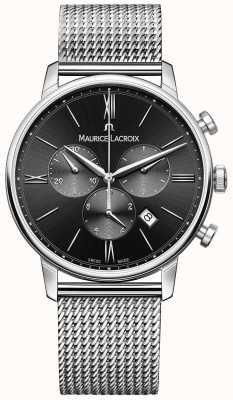 Maurice Lacroix Mens milanaisステンレススチールブラックダイヤル EL1098-SS002-310-1