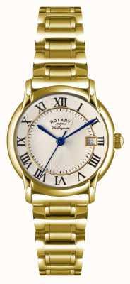 Rotary レディースレディースcarvianoゴールドpvdプレート LB90143/03