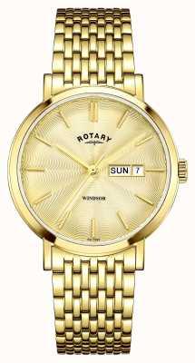 Rotary メンズゴールドメッキゴールドダイヤル GB05303/03