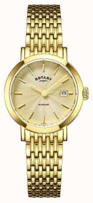 Rotary レディース時計ウィンザーゴールドメッキ LB05303/03