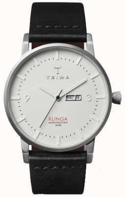 Triwa ユニセックスアイボリーダイヤルレザーストラップ KLST101-CL010112