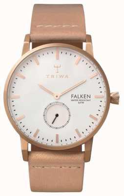 Triwa ファルケンのバラ革のユニセックスホワイトレザーストラップ FAST101-CL010614