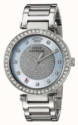 Juicy Couture レディースシルバーストラップラウンドシルバーダイヤル 1901266
