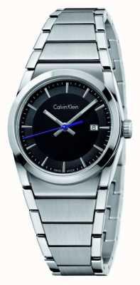 Calvin Klein メンズステップブラックダイヤル K6K31143
