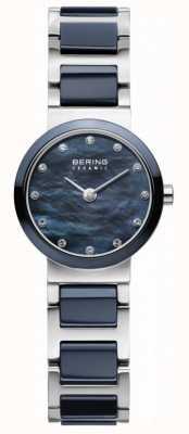 Bering レディースブルーダイヤルブルーシルバーメッキストラップ 10725-787