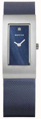 Bering レディース長方形のブルーダイヤル 10817-307