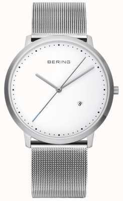Bering ユニセックスシルバーストラップホワイトダイヤル 11139-004