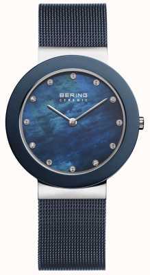 Bering レディースブルーストラップブルーダイヤル 11435-387