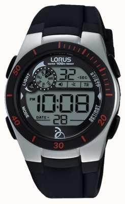 Lorus Novak foundationデジタルブラックシリコンストラップ R2375KX9