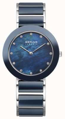 Bering レディースネイビーメタルストラップネイビーダイヤル 11435-787