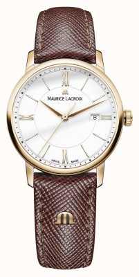 Maurice Lacroix エリオスレディースホワイトダイヤルブラウンレザーストラップ EL1094-PVP01-111-1