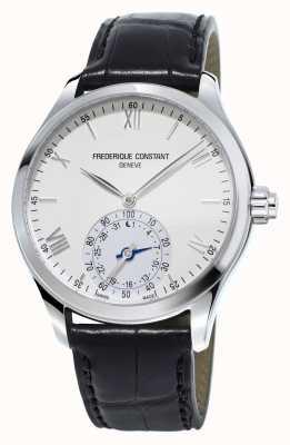 Frederique Constant ホログラフィックスマートウォッチホワイトダイヤルブラックレザーストラップ FC-285S5B6