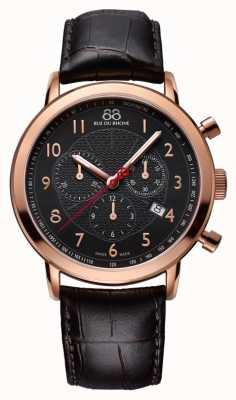 88 Rue du Rhone メンズブラックローズゴールド腕時計ブラックダイヤル 87WA120050