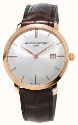 Frederique Constant メンズスリムライン自動ブラウンレザーストラップ FC-306V4S4