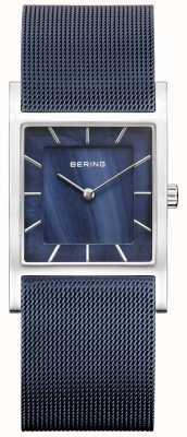 Bering レディースブルーメッシュのブルーダイヤル 10426-307-S