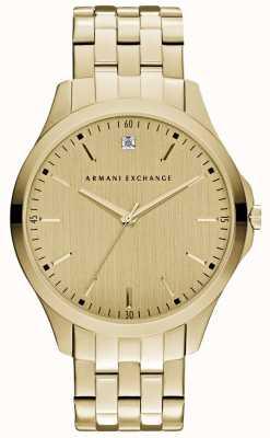 Armani Exchange メンズハムトンの洗練されたゴールドダイヤル AX2167