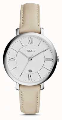 Fossil レディースジャカードクリームレザーストラップ ES3793