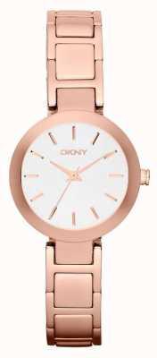 DKNY レディースホワイトダイヤルバラゴールドストラップ NY2400