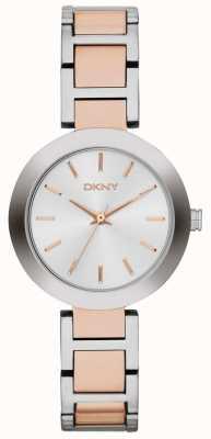 DKNY レディースホワイトダイヤル2トーンストラップ NY2402