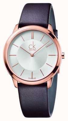 Calvin Klein メンズミニブラウンレザーストラップ K3M216G6