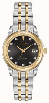 Citizen レディース11ダイヤモンド2トーンステンレススチール EW2394-59E