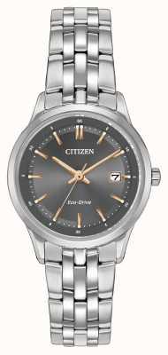 Citizen レディースステンレススチール腕時計サファイアクリスタル EW2400-58H