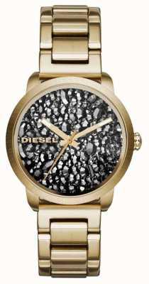 Diesel レディースゴールドメッキステンレスストラップパターンダイヤル DZ5521