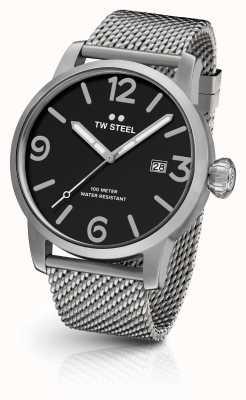 TW Steel Mens Moverickメッシュストラップブラックダイヤル MB11