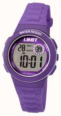 Limit キッズデジタル紫色樹脂ストラップ 5585.24