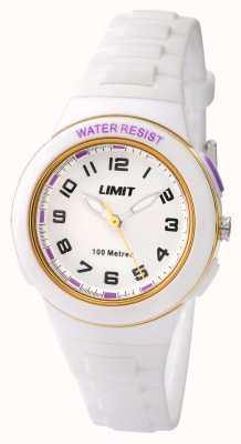 Limit キッズ白レジンストラップホワイトダイヤル 5590.24