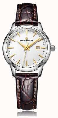 Dreyfuss レディーススイス製の茶色のストラップ付き時計 DLS00125/02