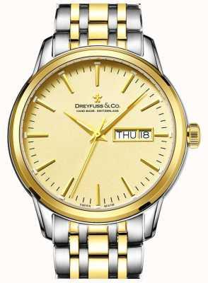 Dreyfuss メンズdreyfussトーンゴールド1890の時計 DGB00126/03