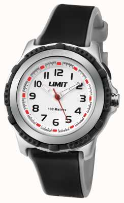 Limit キッズアクティブブラックレジンストラップホワイトダイヤル 5597.24