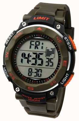 Limit メンズスポーツ腕時計カーキストラップ 5488.01