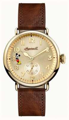 Disney By Ingersoll メンズユニオントレントンディズニー限定版ブラウンレザー ID01201